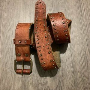 American eagles outfitters tan 100% leather belt L